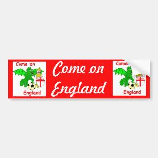 Come on England Bumper Sticker