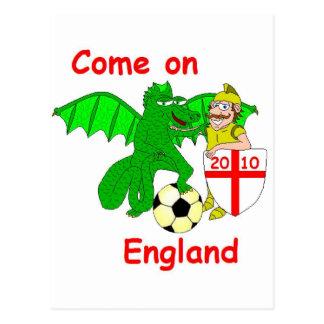 Come on England Postcard