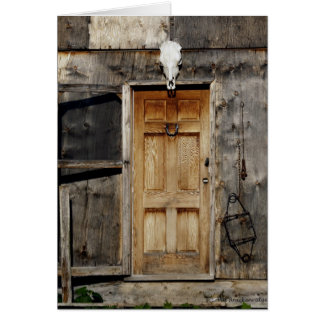 """Come On In"" Rustic Doorway gifts Card"