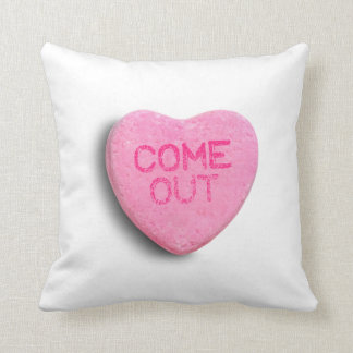 Come Out Candy Heart Cushions