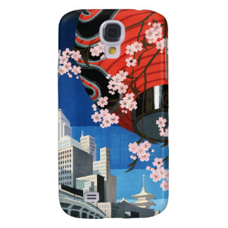 Come to Tokyo Vintage Japan Travel Poster Galaxy S4 Case