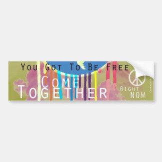 Come Together Peace Bumper Sticker