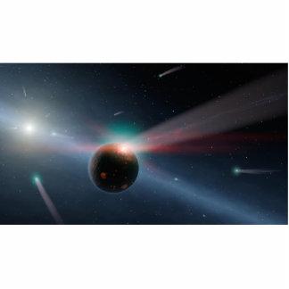 Comets Around Eta Corvi NASA Standing Photo Sculpture