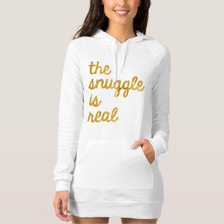 "Comfy Gold Foil Sweatshirt ""Snuggle is Real"""