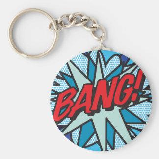 Comic Book BANG! key ring Basic Round Button Key Ring