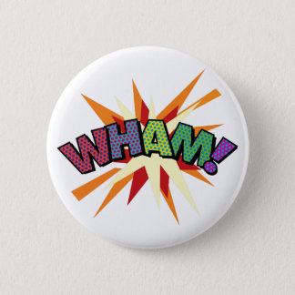 Comic Book Pop Art WHAM! 6 Cm Round Badge