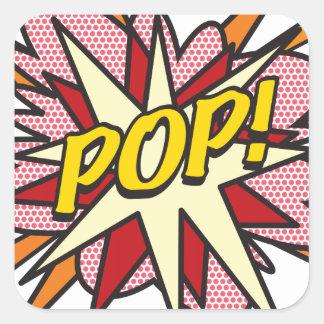 Comic Book POP! Square Sticker