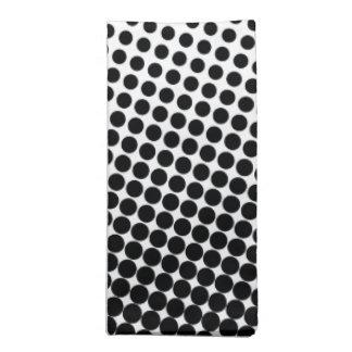 Comic Book Style Dot Pattern Black and White Napkin