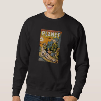 Comic Book Utopia PC Black Retro Sweatshirt
