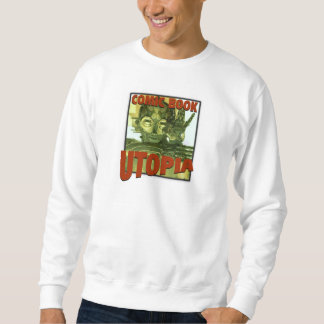 Comic Book Utopia Retro1 white sweatshirt w/hoodie