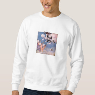 Comic Book Utopia White Sweatshirt