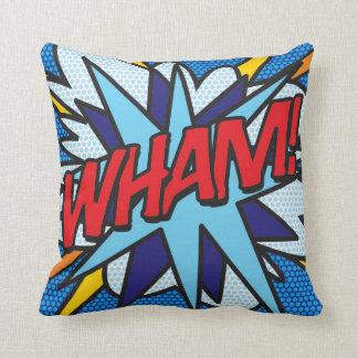 Comic Book WHAM! Cushion