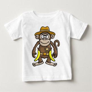 comic monkey banana cowboy sheriff baby T-Shirt