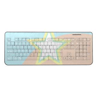 Comic Star, Super Held (Mauve/ Dusky Pink) Wireless Keyboard
