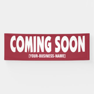 Coming Soon Business Opening Sign Banner