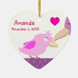 Commemorative Baby Girl Bird Christmas Ornament