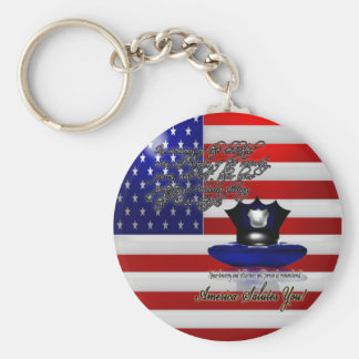 Commemorative September 11th World Trade Centre At Basic Round Button Key Ring