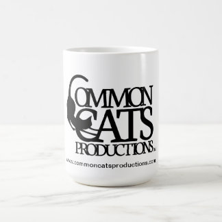 Common Cats Full Logo Black Coffee Mug