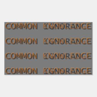 Common Knowledge Rectangular Sticker