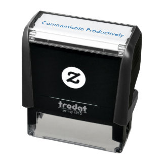 """""""Communicate Productively"""" Self Inking Stamp"""