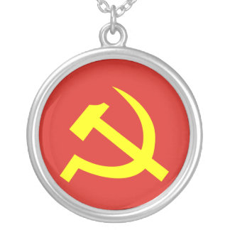 Communist Party Of Vietnam, Colombia Political Silver Plated Necklace