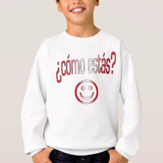 ¿Cómo Estás? Peru Flag Colors Sweatshirt