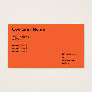 Company Name, Full Name, Job Title, Address Lin... Business Card