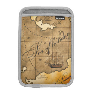 Compass and Map iPad Mini  Vertical iPad Mini Sleeves