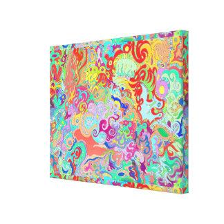 Compass Multicolour Bold Organic Living Art Design Canvas Print