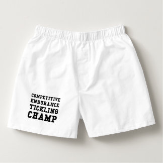 Competitive Endurance Tickling Champ Boxers