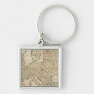 Composite Europe with statistical tables Key Ring
