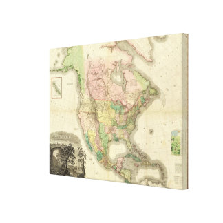 Composite North America Gallery Wrapped Canvas