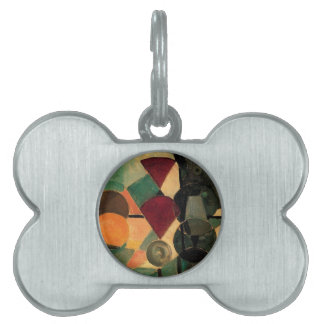Composition II (Still life) by Theo van Doesburg Pet Name Tag