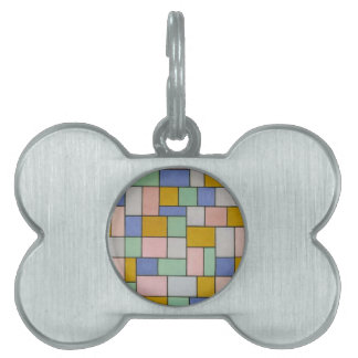 Composition in dissonances by Theo van Doesburg Pet ID Tag
