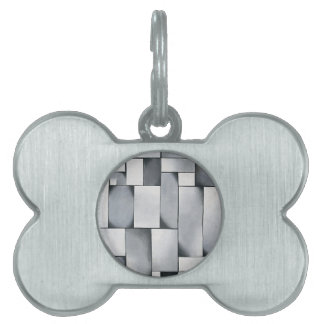 Composition in gray by Theo van Doesburg Pet ID Tag