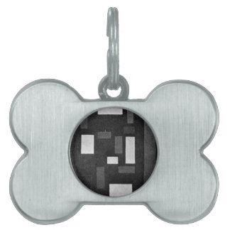 Composition VI by Theo van Doesburg Pet ID Tag