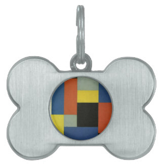 Composition XX by Theo van Doesburg Pet Name Tag