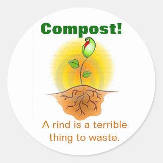 Compost Round Sticker