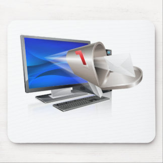 Computer email message concept mouse pad