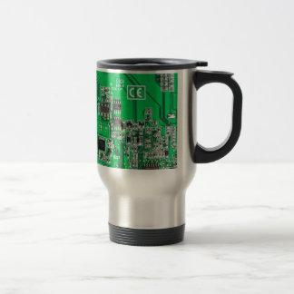 Computer Geek Circuit Board - green Coffee Mugs