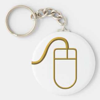 Computer Mouse Basic Round Button Key Ring