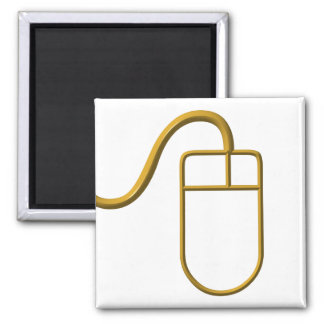 Computer Mouse Square Magnet
