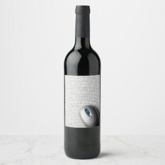 Computer mouse wine label