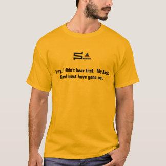 computer sysadmin logo t-shirt audio card