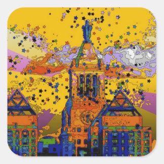 Con Edison Clock Tower Union Square 001 Square Sticker