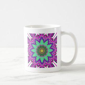 Concentric Floral Symmetry Coffee Mug