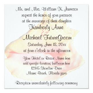 Conch Shell Beach Theme Wedding Card