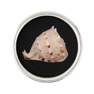 Conch Shell Silver Plated Lapel Pin
