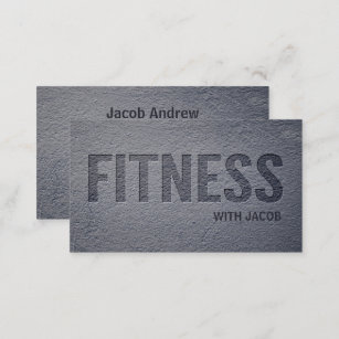 Concrete business cards zazzle nz concrete faux letterpress fitness personal trainer business card reheart Gallery