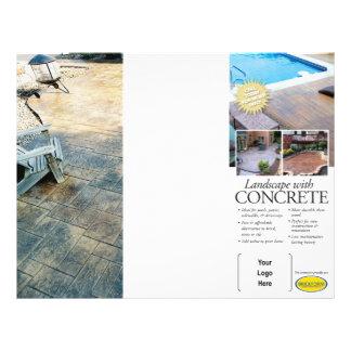 Concrete Landscaping Brochure for Brickform 21.5 Cm X 28 Cm Flyer
